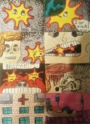 8. klašu skolēnu humora darbi veltīti pandēmijai